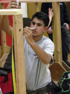 Student Joseph Mutino competed in the electrical technology event.