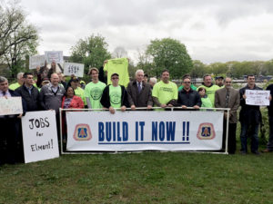 Residents rallied en masse to support the erection of a stadium for the New York Cosmos at Belmont Park.